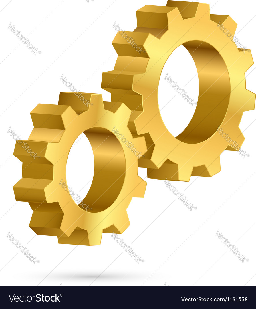 Golden gearwheel vector | Price: 1 Credit (USD $1)
