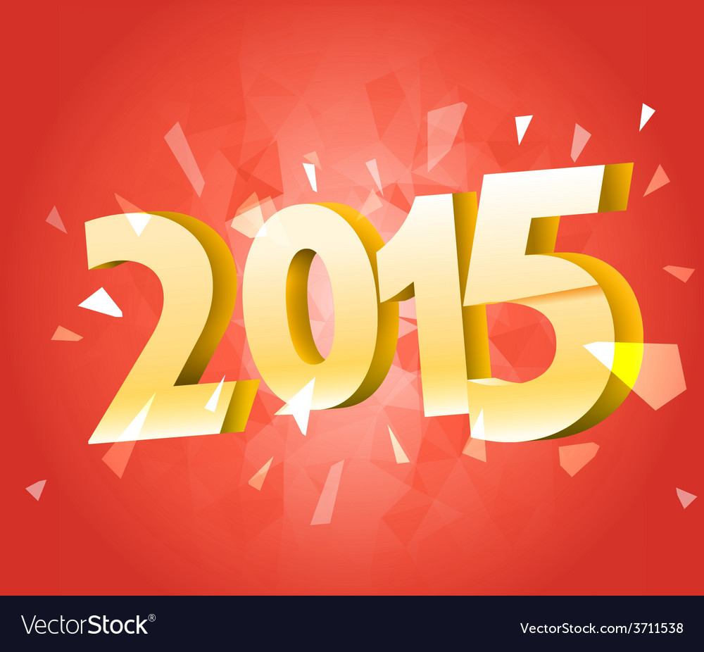 Happy new 2015 year banner with red ribbon vector | Price: 1 Credit (USD $1)