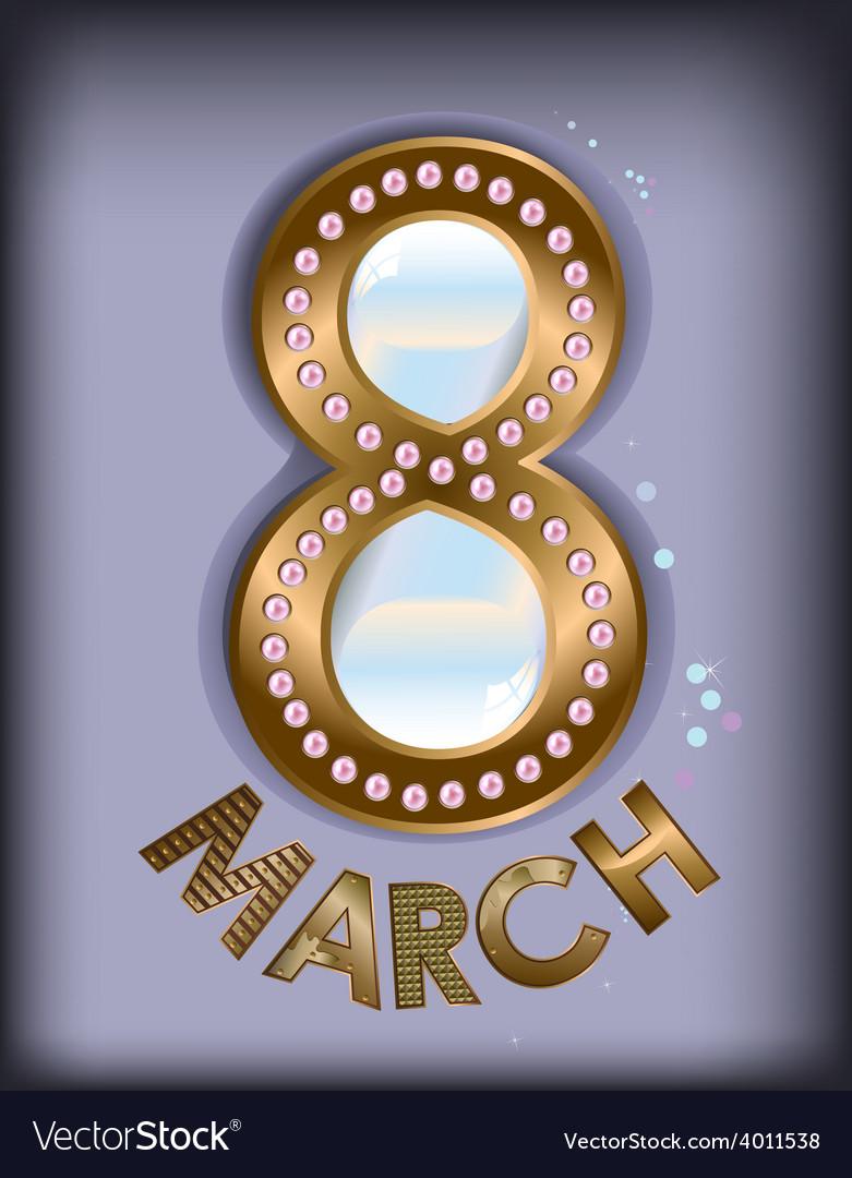 March 8 pearls vector | Price: 1 Credit (USD $1)