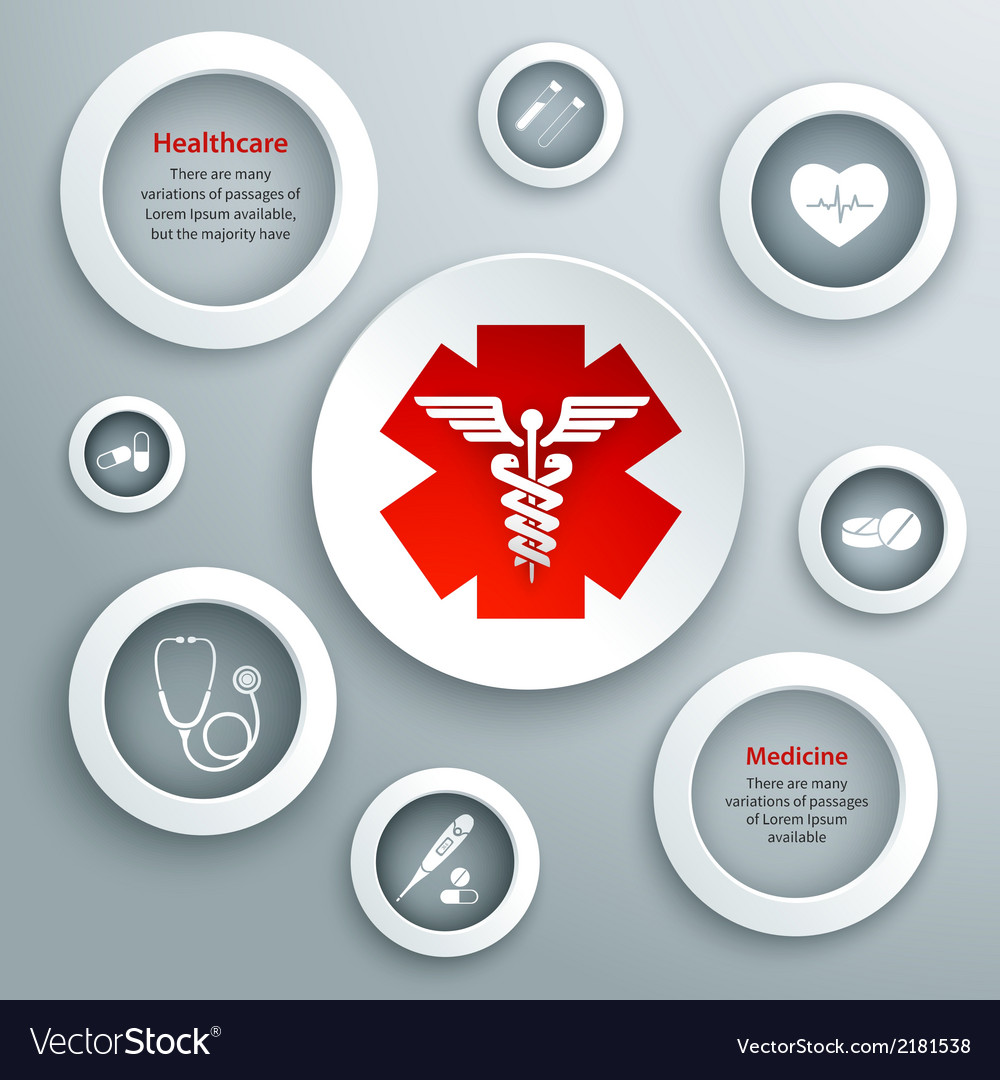 Medical paper symbols vector | Price: 1 Credit (USD $1)