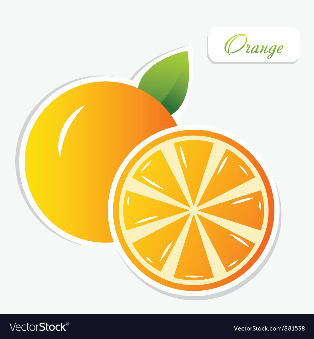 Orange sticker vector | Price: 1 Credit (USD $1)