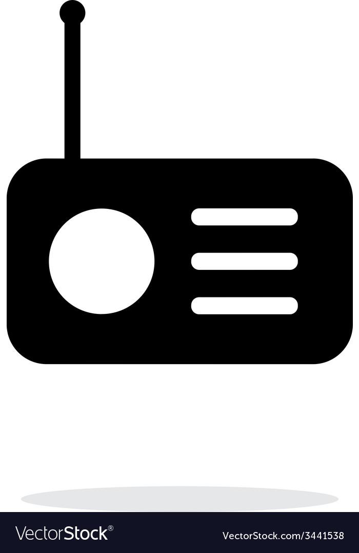 Radio icon on white background vector | Price: 1 Credit (USD $1)