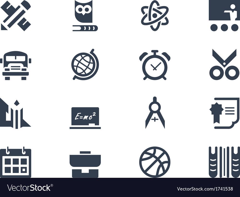 School education icons vector