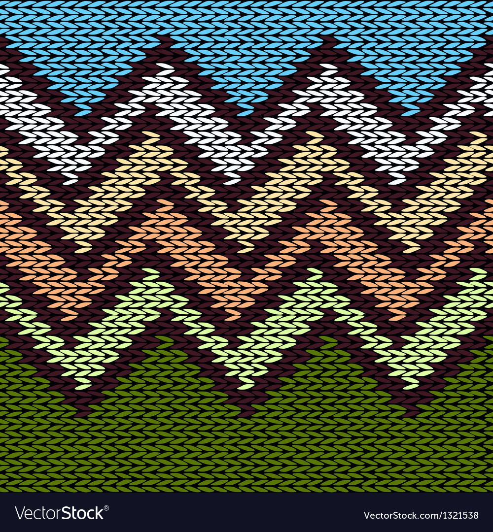 Seamless knitted stylized geometric pattern vector | Price: 1 Credit (USD $1)
