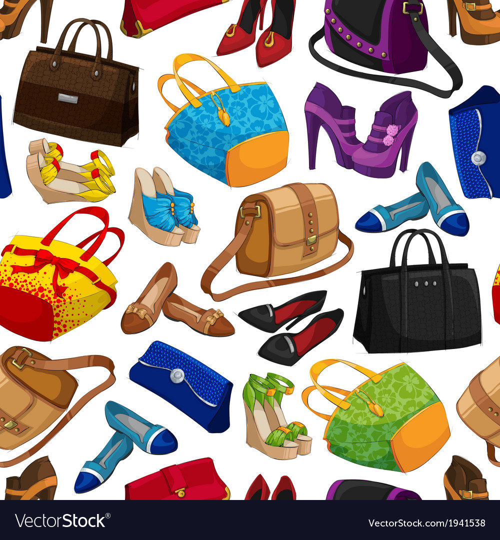 Seamless womans fashion accessory wallpaper vector | Price: 1 Credit (USD $1)