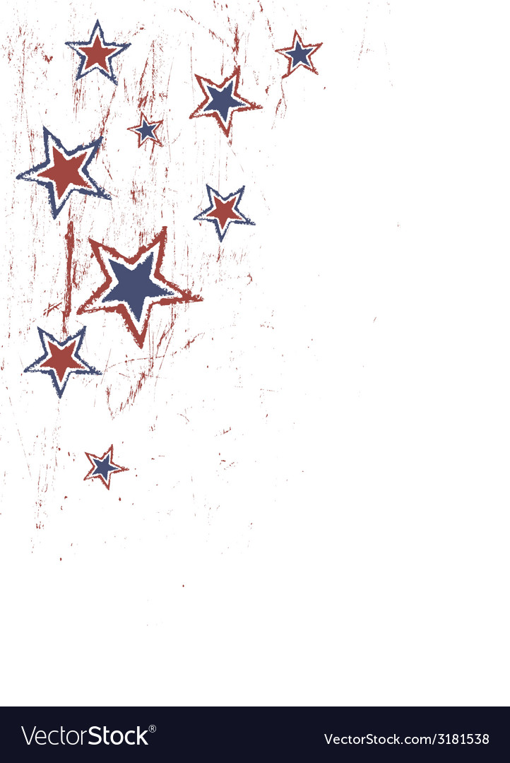 Stars on white patriotic vector | Price: 1 Credit (USD $1)