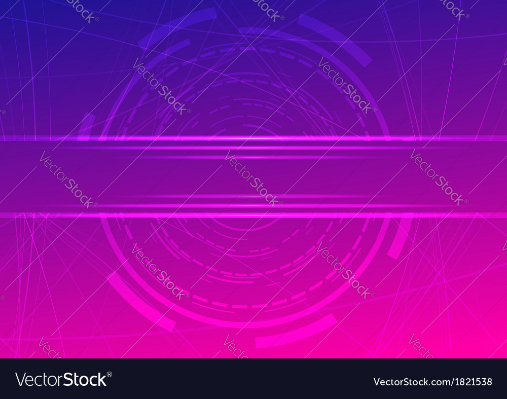 Technological ring  futuristic background vector
