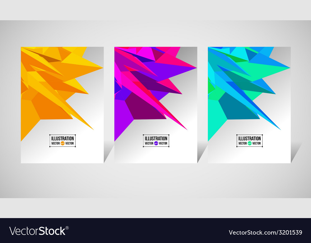 Abstract background of yellow fragments vector | Price: 1 Credit (USD $1)