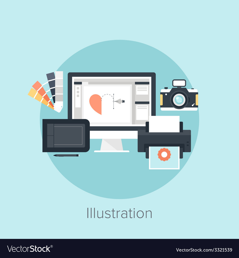 Abstract flat image of drawing vector | Price: 1 Credit (USD $1)