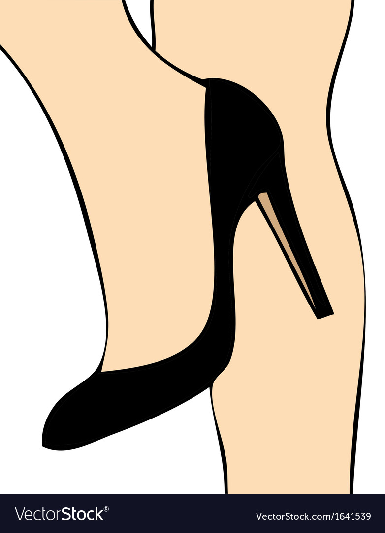Black shoe vector | Price: 1 Credit (USD $1)