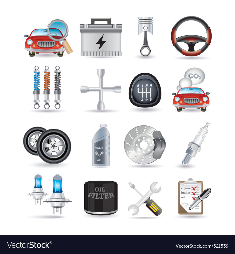 Car parts and service vector | Price: 5 Credit (USD $5)