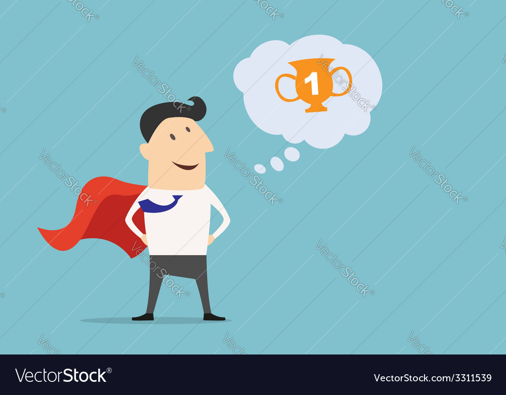 Cartoon businessman super hero character vector | Price: 1 Credit (USD $1)