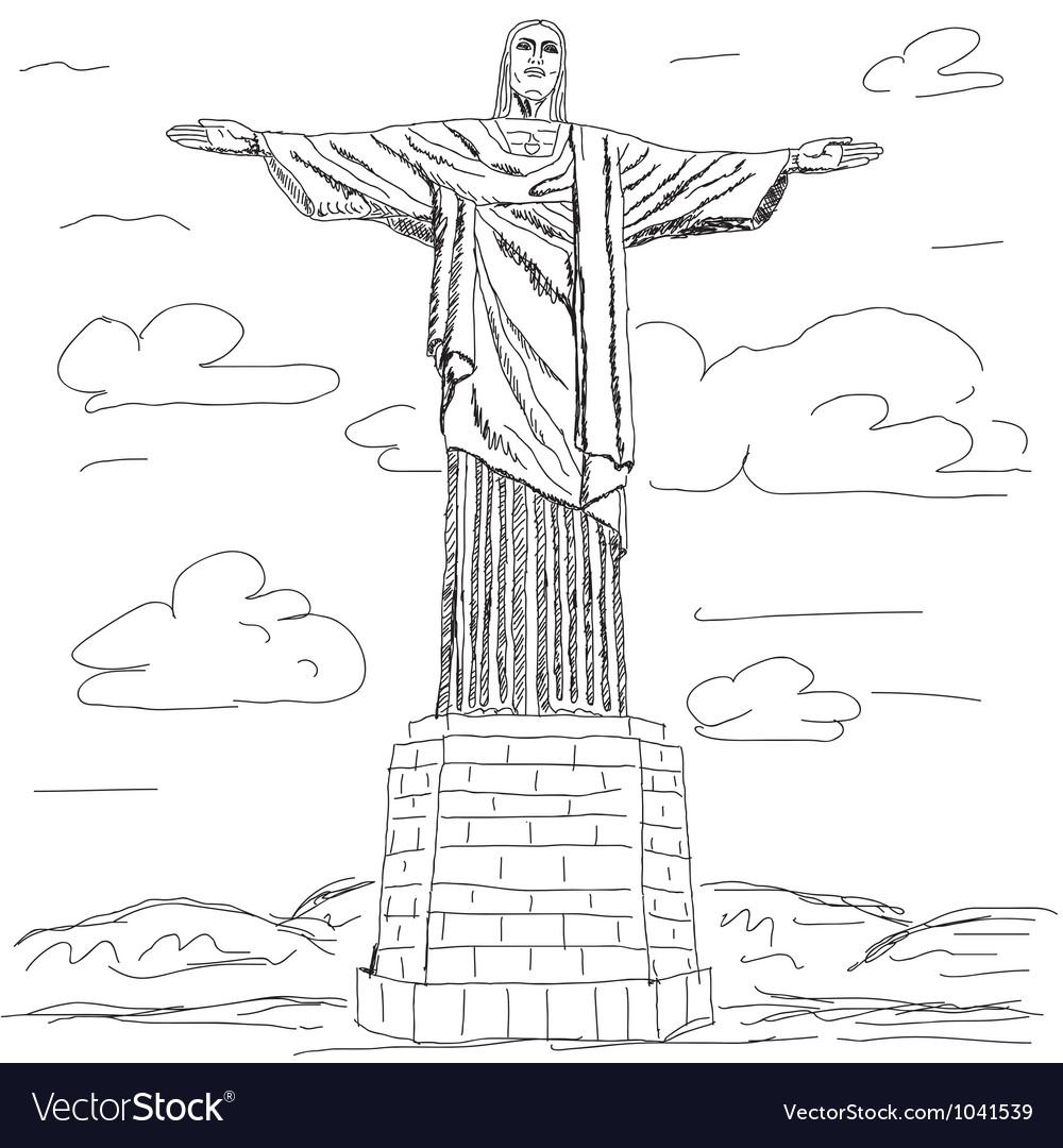 Cristo redentor vector | Price: 1 Credit (USD $1)