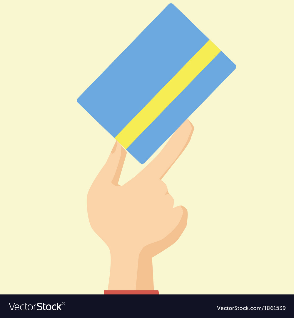 Flat design style icon hand holds credit card vector | Price: 1 Credit (USD $1)