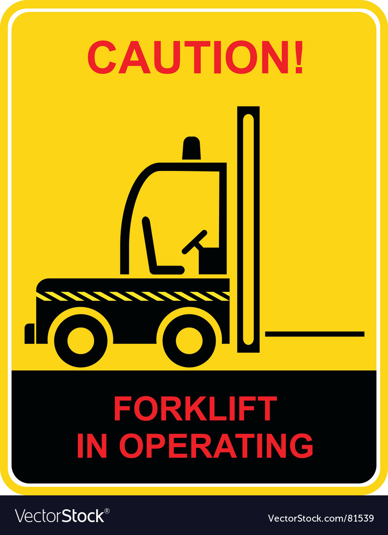 Forklift sign vector | Price: 1 Credit (USD $1)