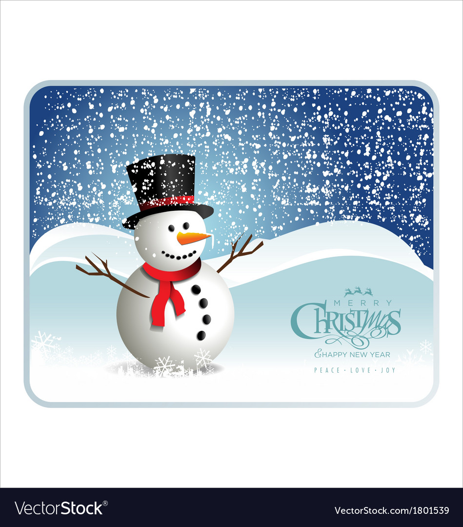 Snowman banner vector | Price: 1 Credit (USD $1)