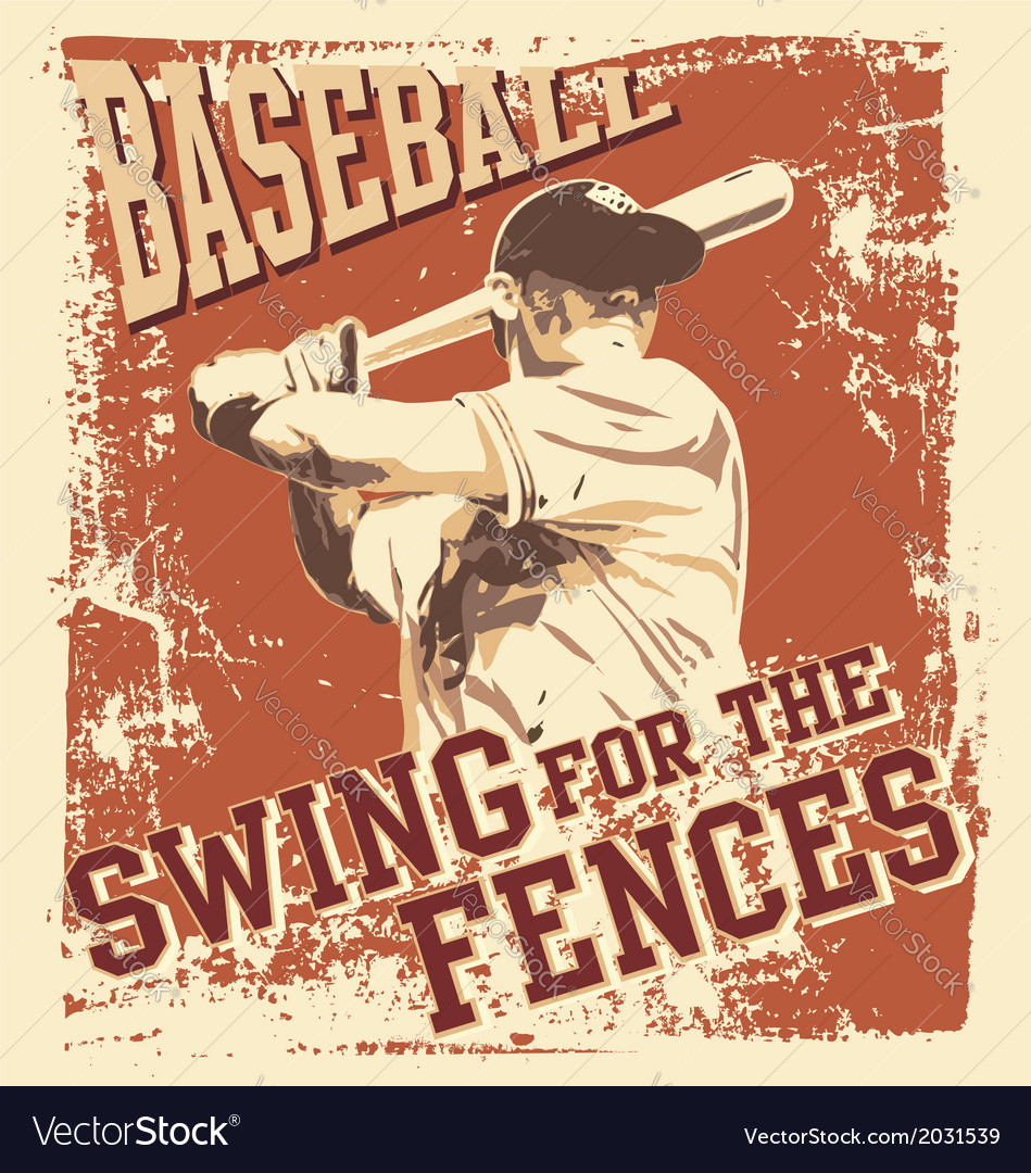 Swing baseball vector | Price: 1 Credit (USD $1)