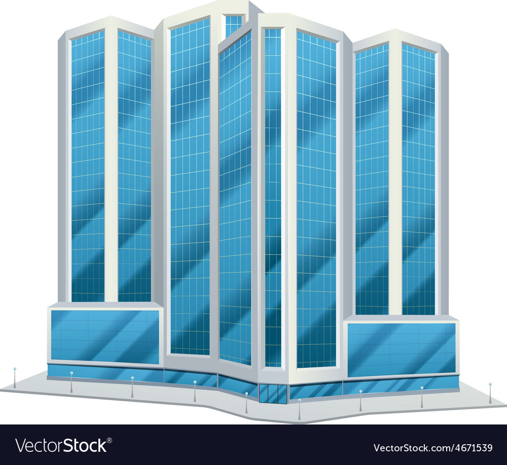 Urban glass tall buildings vector | Price: 1 Credit (USD $1)