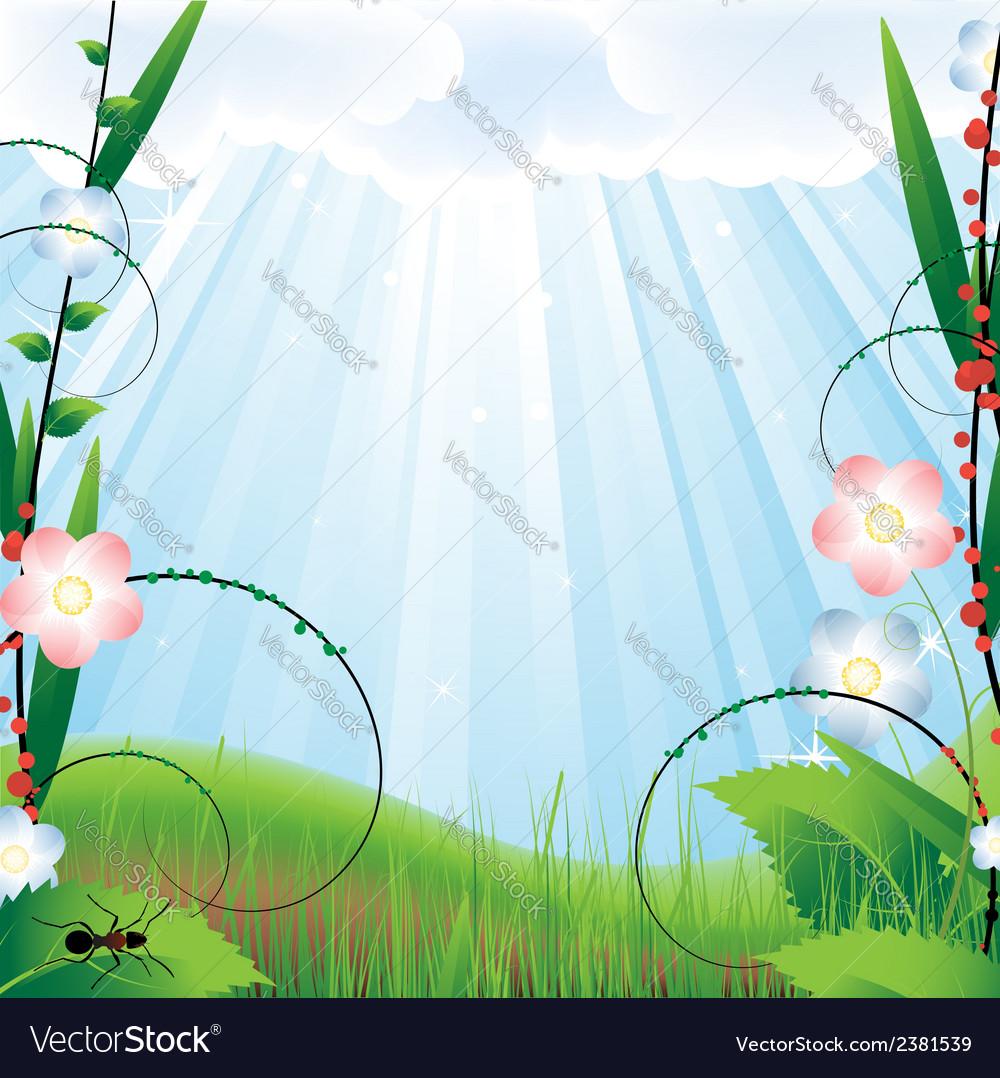 Vegetative landscape vector | Price: 1 Credit (USD $1)