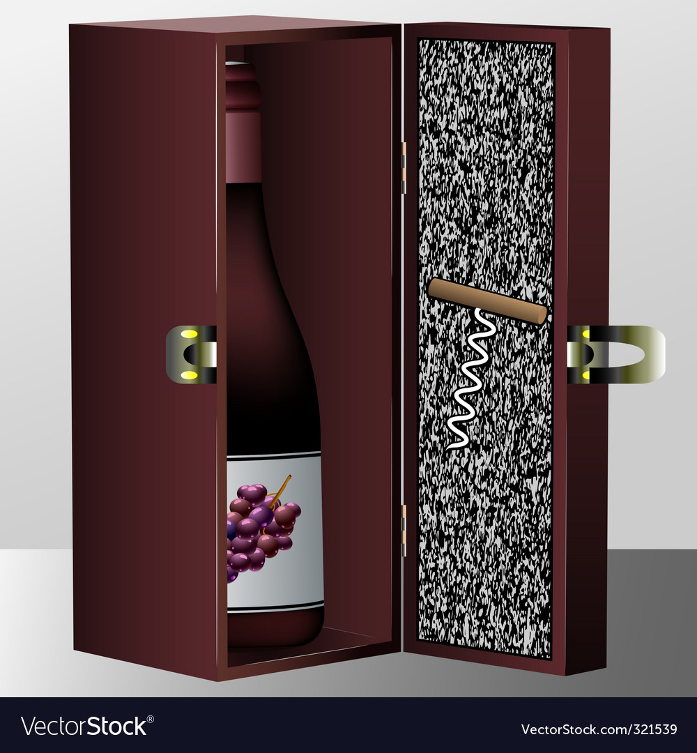 Wine box vector | Price: 1 Credit (USD $1)