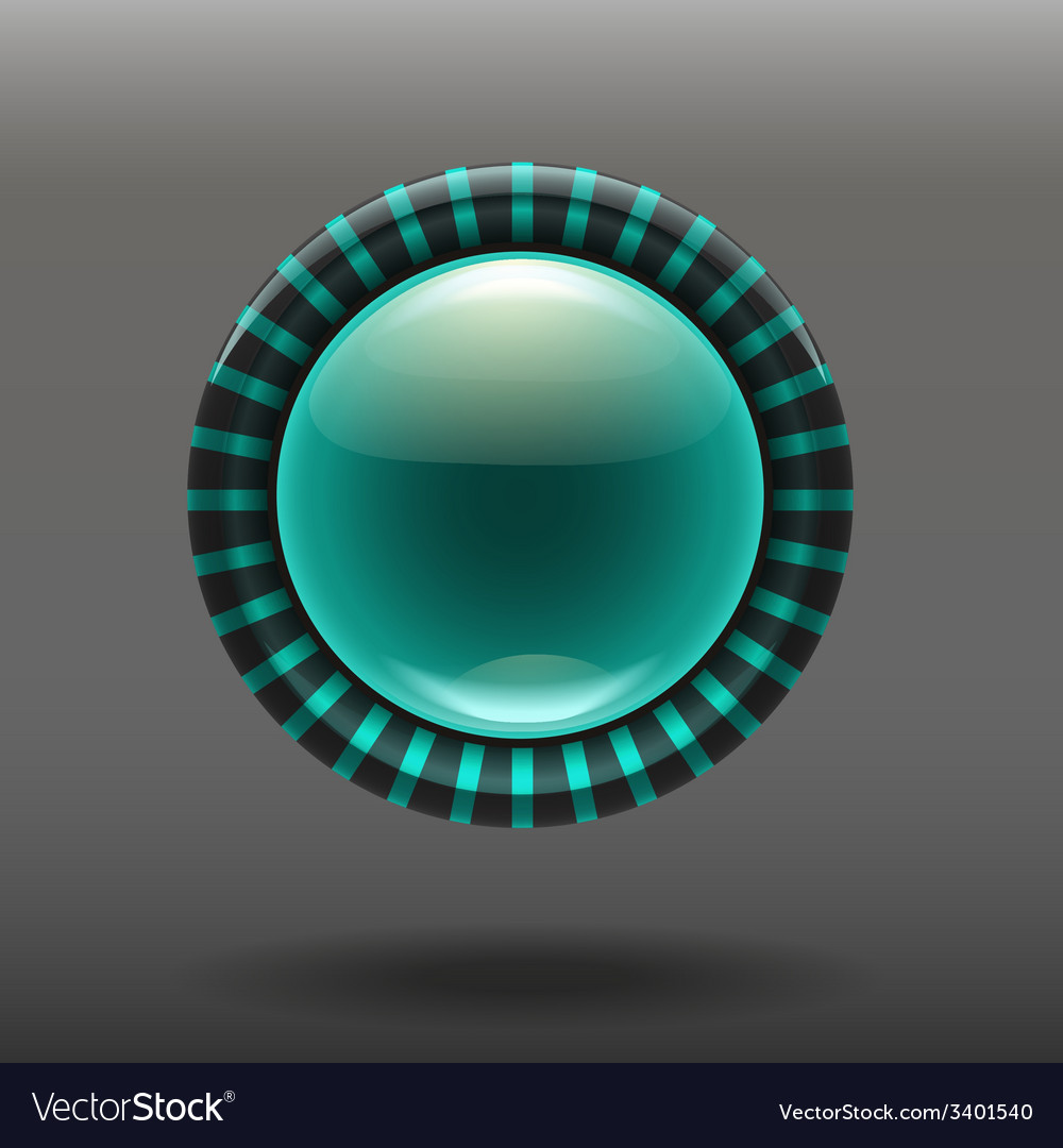 Blue shiny glass buttons vector | Price: 1 Credit (USD $1)