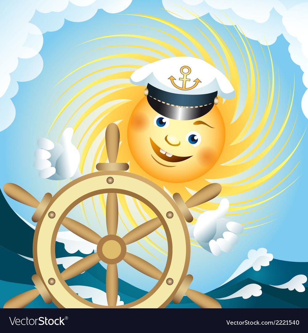 Captain sun vector | Price: 1 Credit (USD $1)