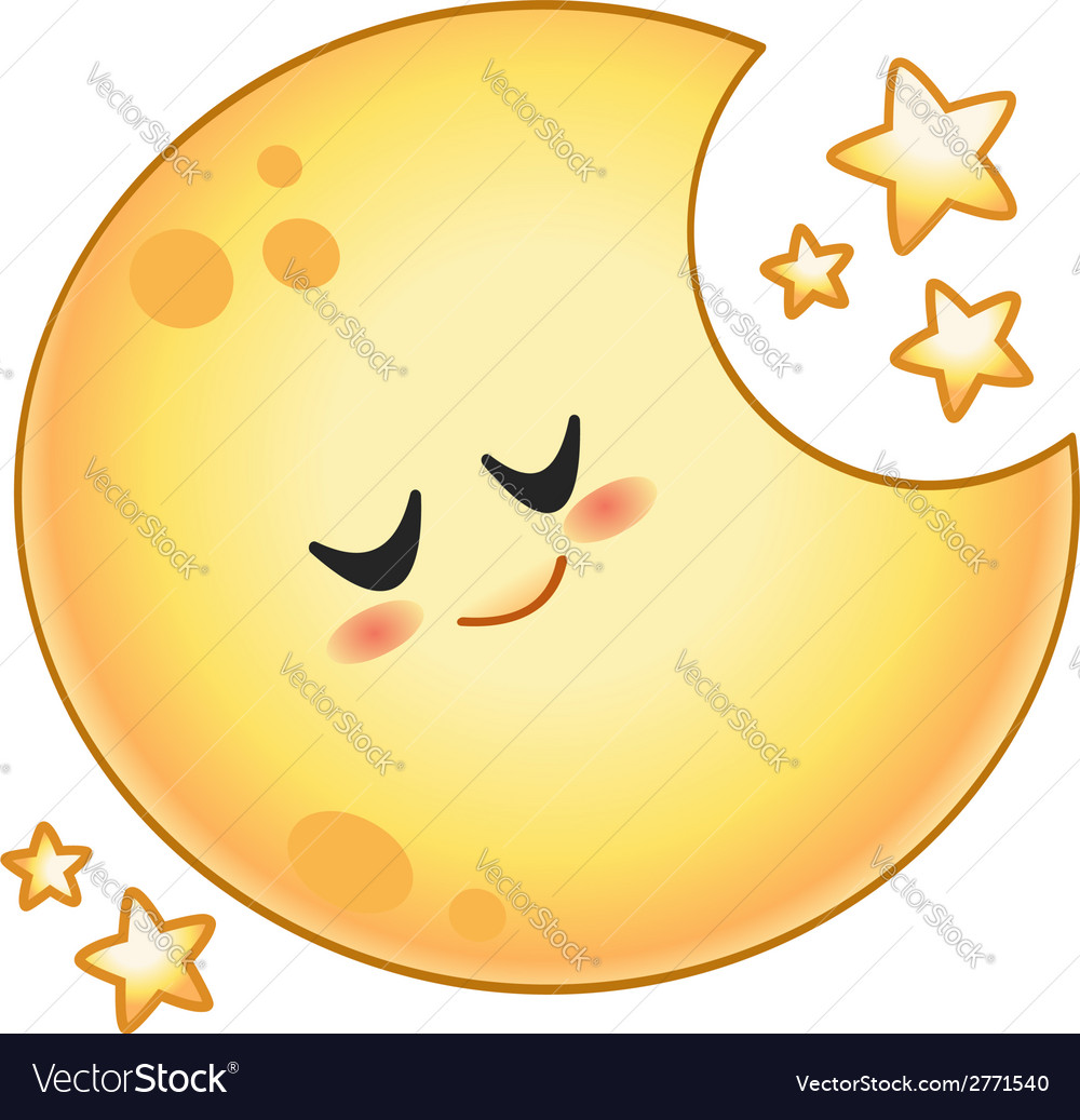 Cartoon moon vector | Price: 1 Credit (USD $1)