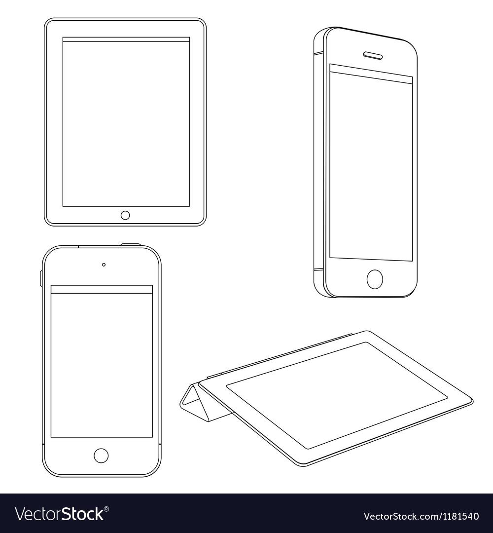 Digital devices vector | Price: 1 Credit (USD $1)