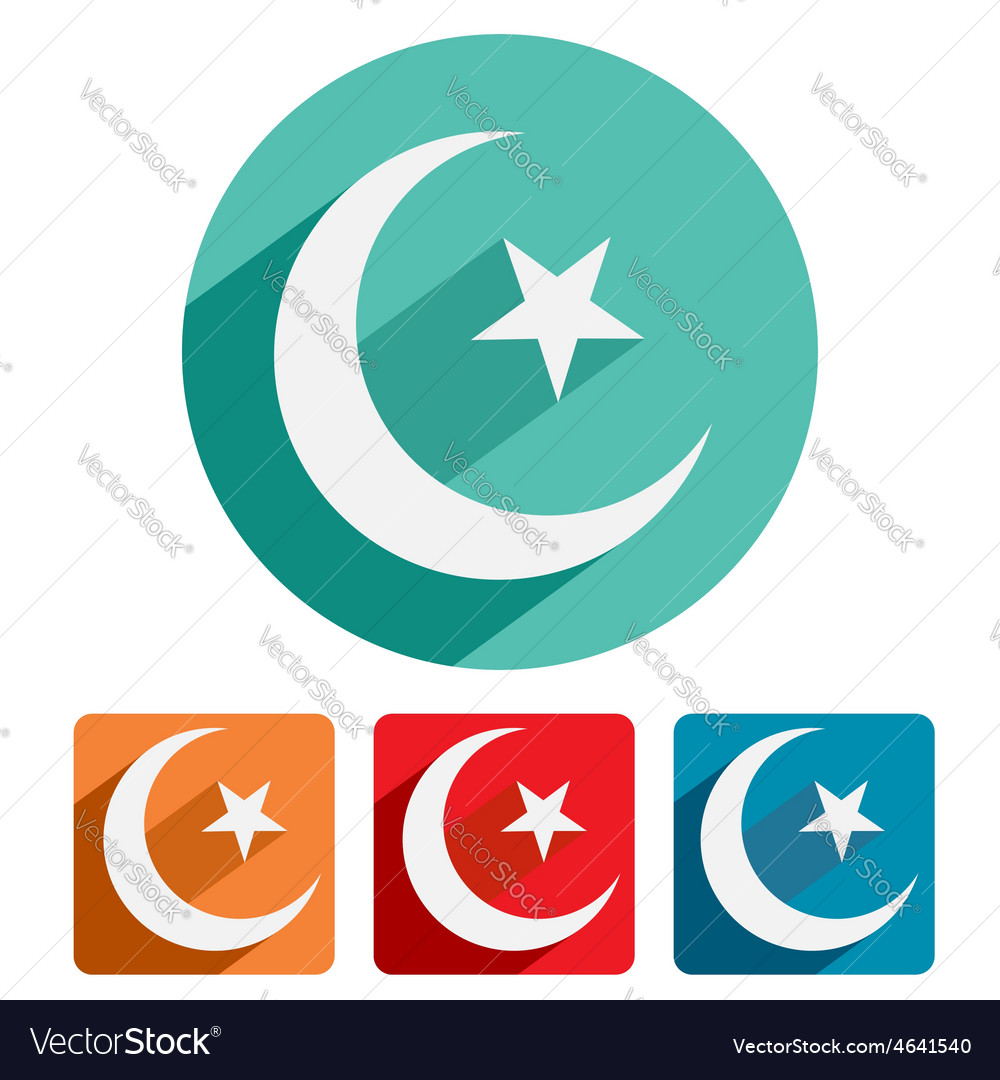 Islam symbol icon flat design vector