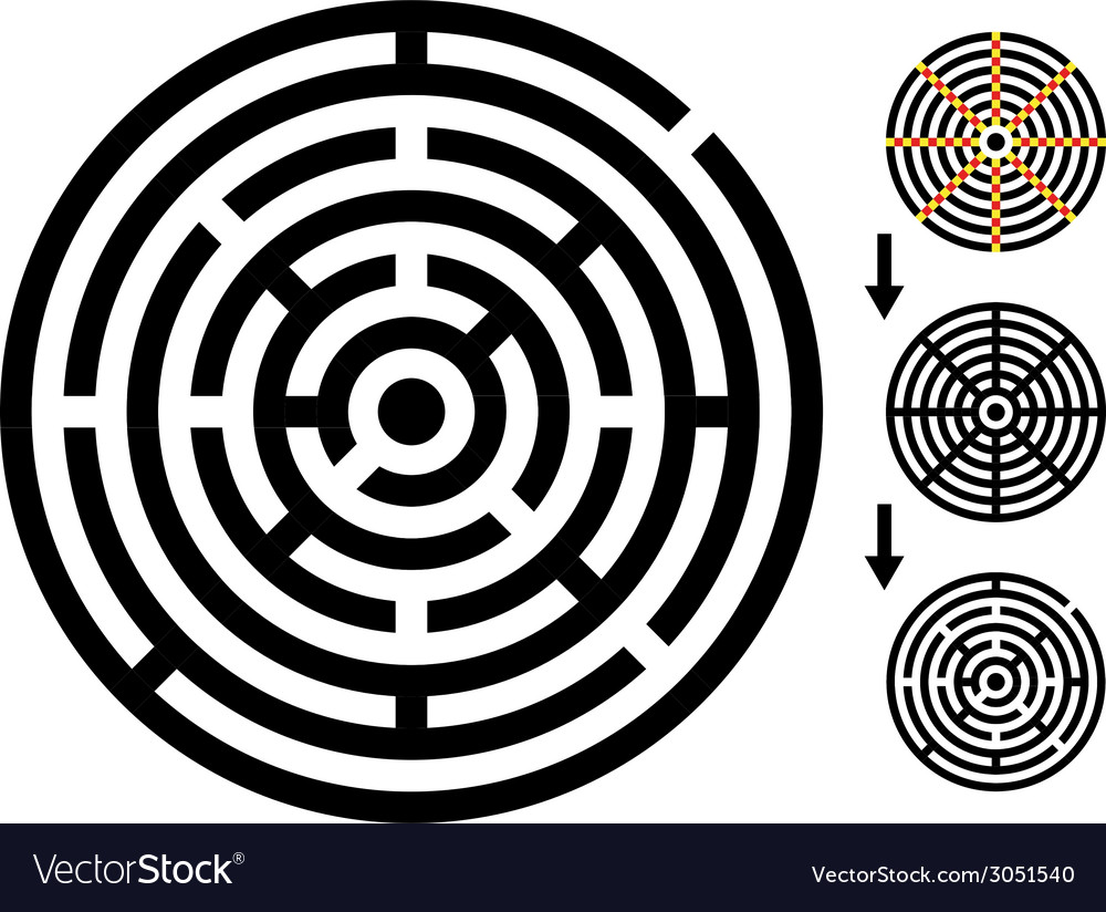 Maze - easy change maze - change color any piece vector | Price: 1 Credit (USD $1)