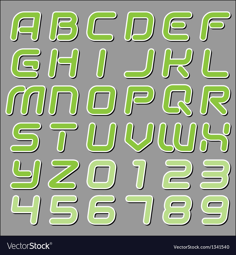 Modern font vector | Price: 1 Credit (USD $1)