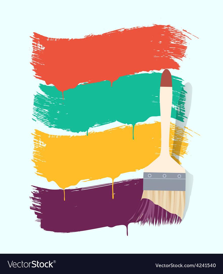 Paint brush background retro vector | Price: 1 Credit (USD $1)