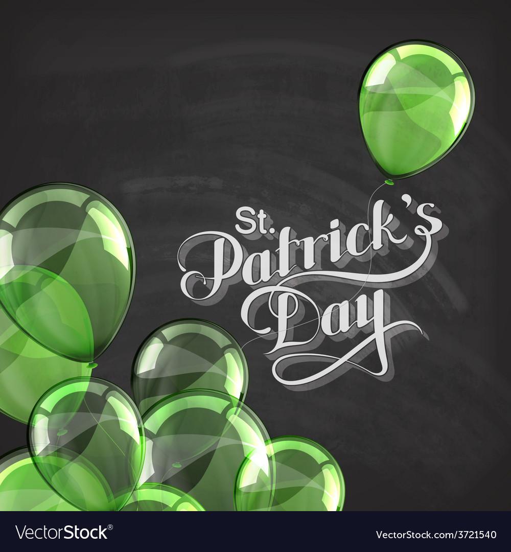 Saint patricks day label on the blackboard vector | Price: 1 Credit (USD $1)