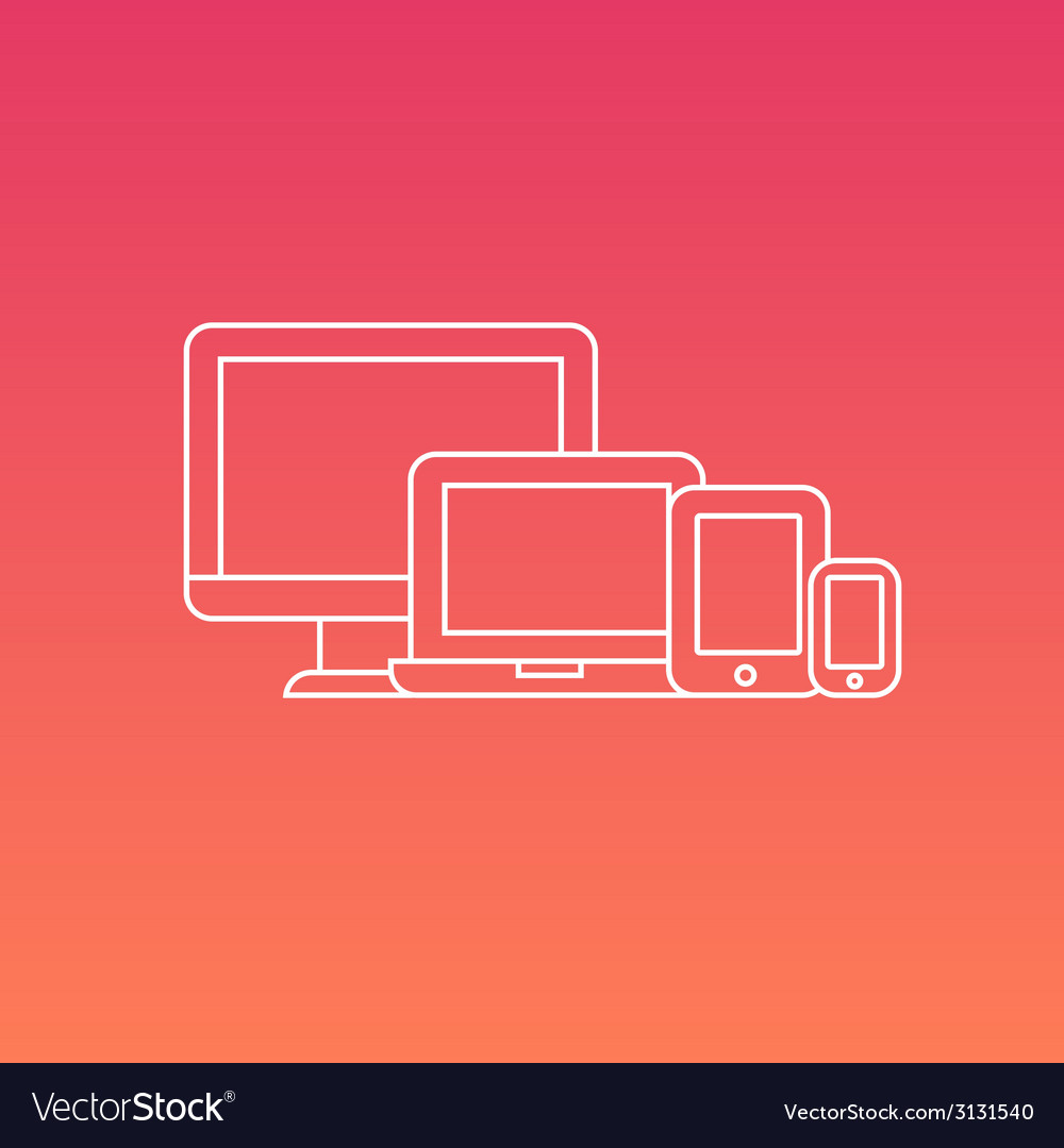 Set of digital electronic devices vector | Price: 1 Credit (USD $1)
