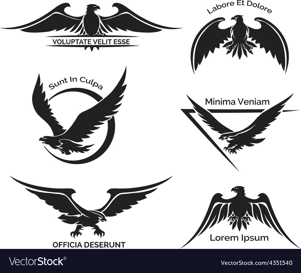 Set of eagle logo vector | Price: 1 Credit (USD $1)