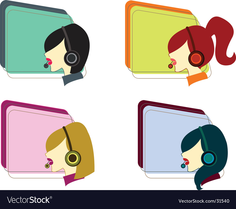 Telco girls vector | Price: 1 Credit (USD $1)