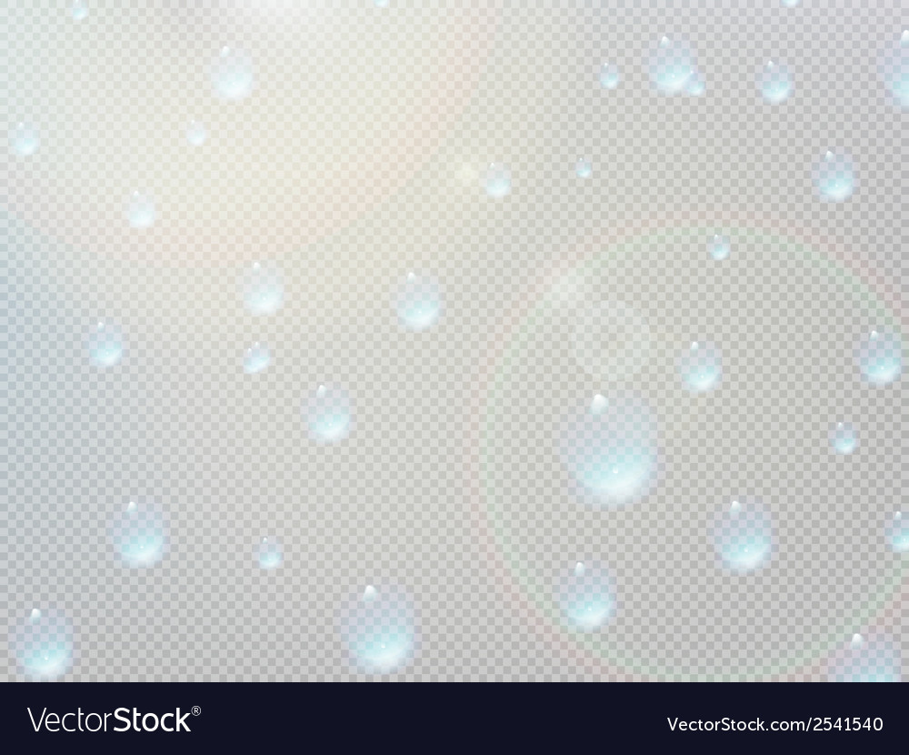 Transparent water drop on gray grid plus eps10 vector | Price: 1 Credit (USD $1)