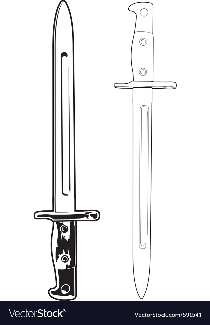 Antique bayonet vector | Price: 1 Credit (USD $1)