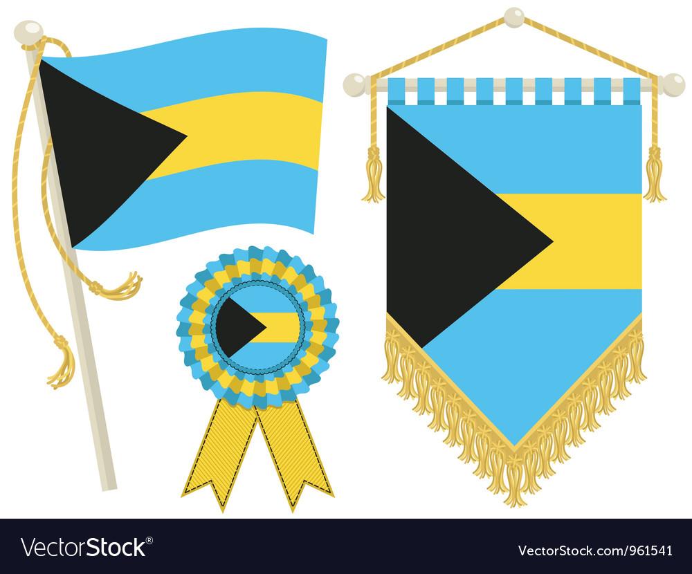 Bahamas flags vector | Price: 1 Credit (USD $1)