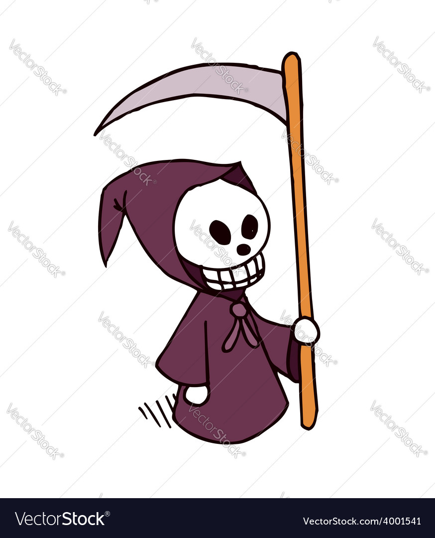 Death cartoon character vector | Price: 1 Credit (USD $1)