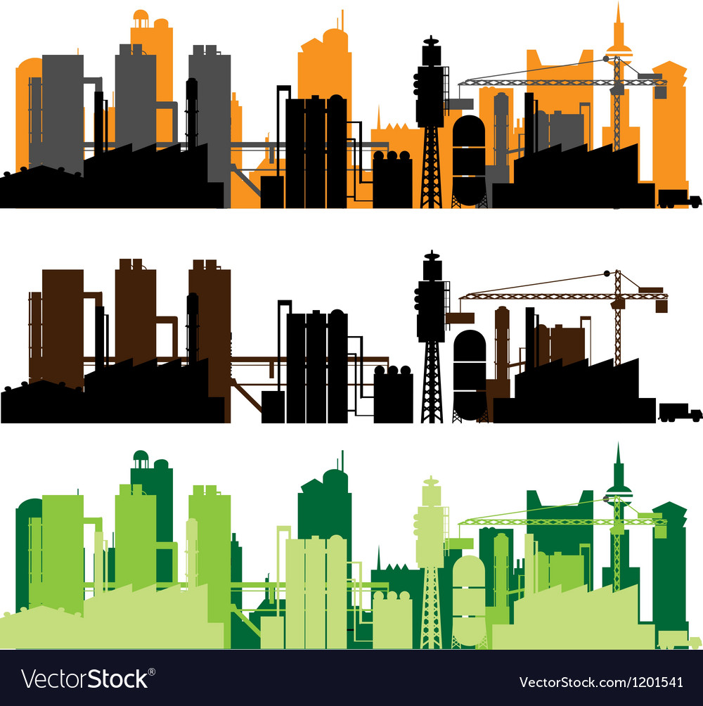 Factory city vector | Price: 1 Credit (USD $1)