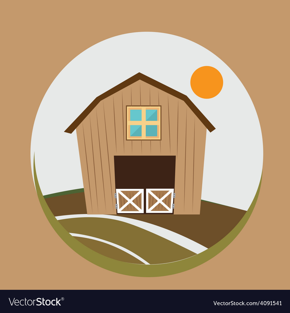 Farm design vector | Price: 1 Credit (USD $1)