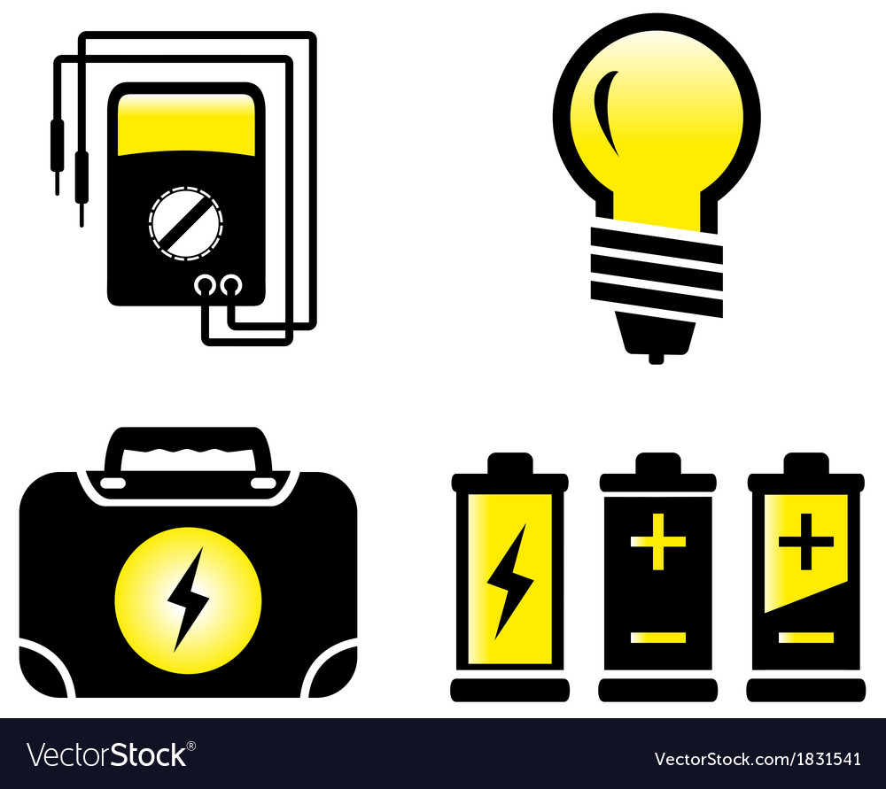 Glossy electrical objects vector | Price: 1 Credit (USD $1)