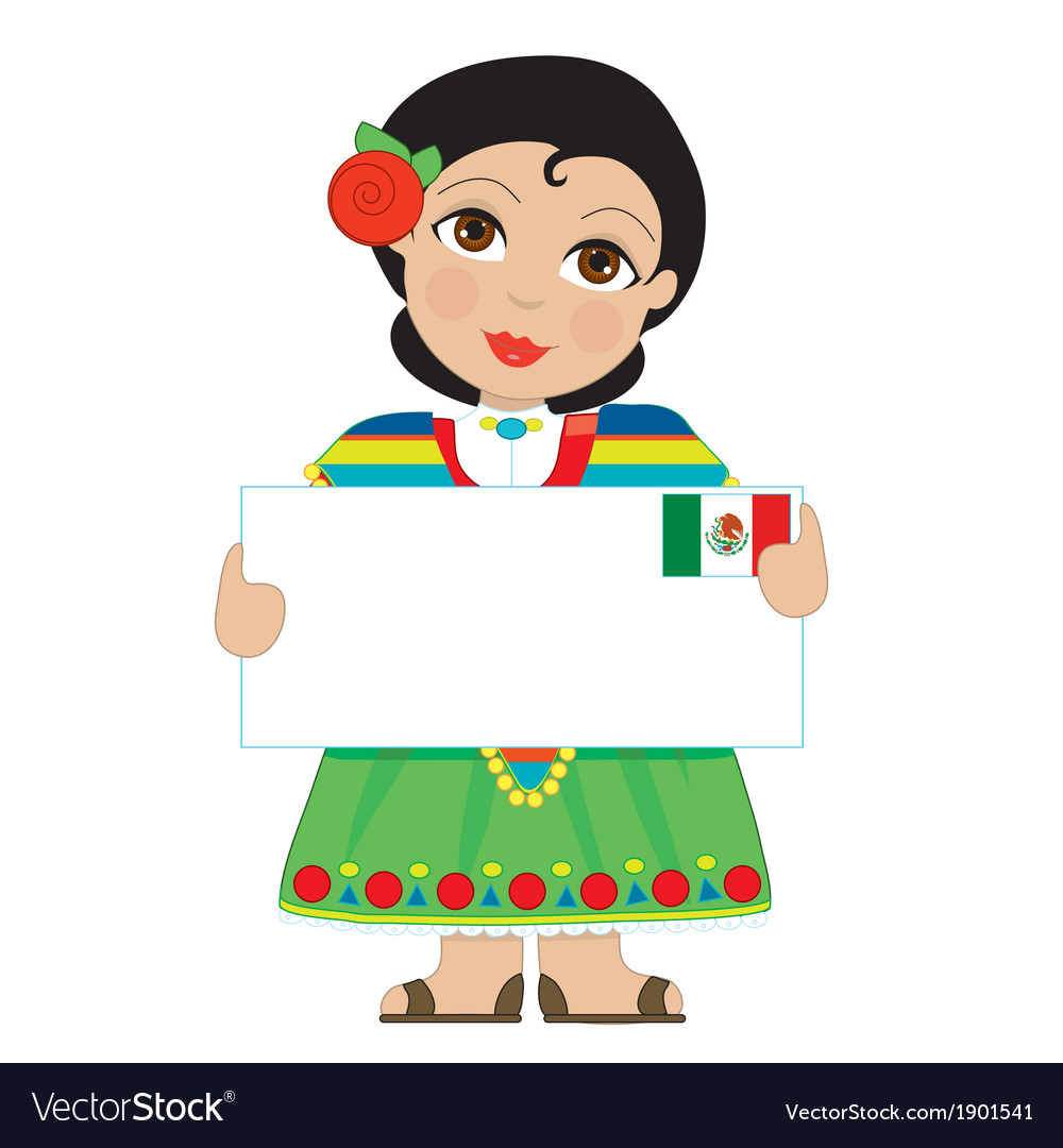 Mexican girl sign vector | Price: 1 Credit (USD $1)