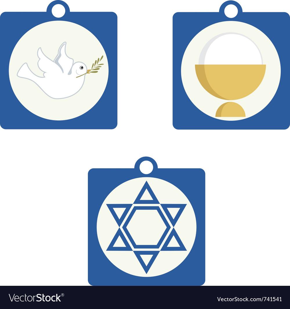 Religious symbols vector | Price: 1 Credit (USD $1)