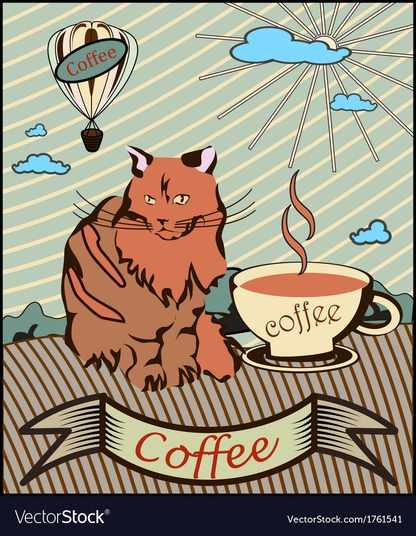 Retro banner coffee vector | Price: 1 Credit (USD $1)