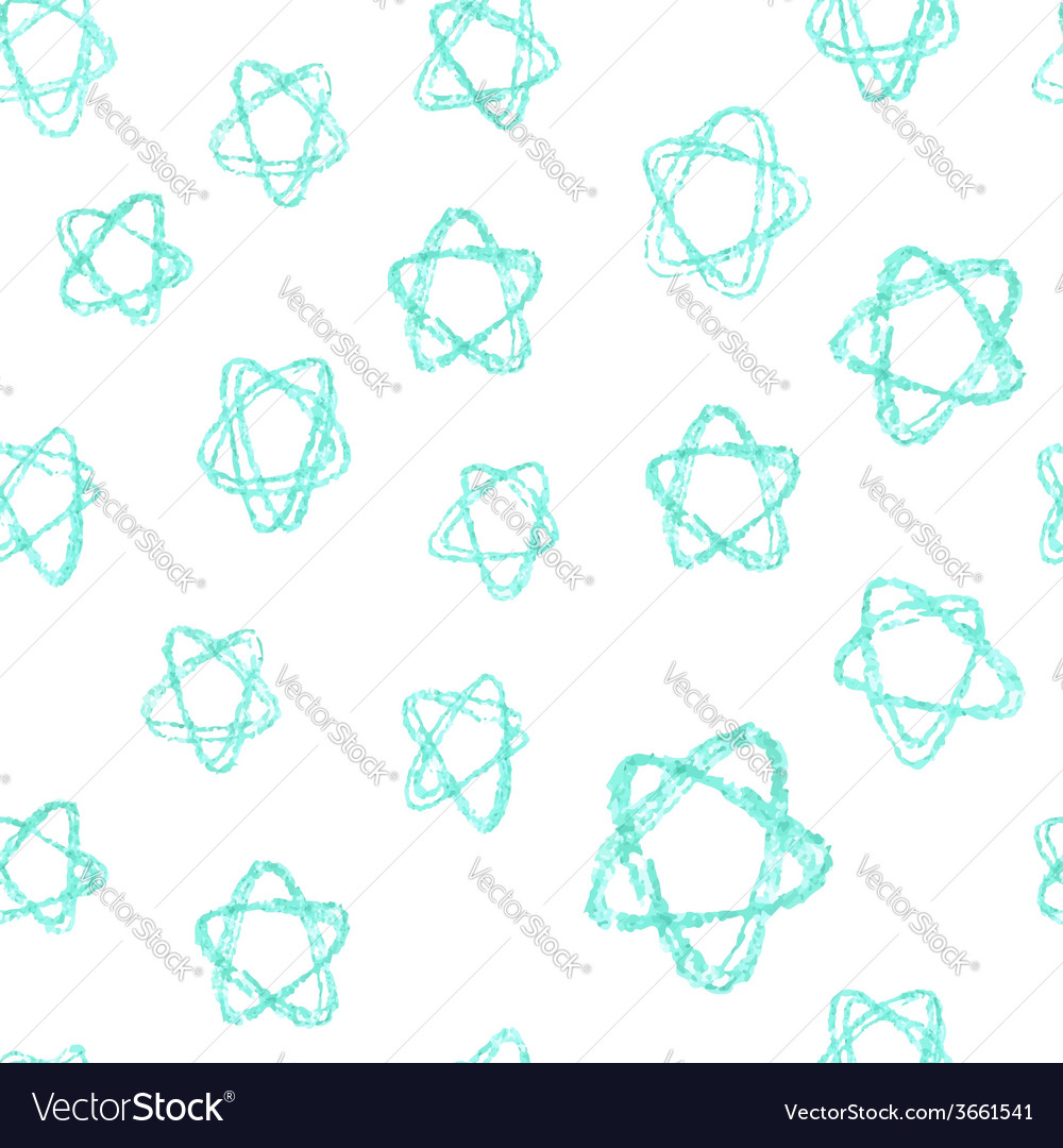 Seamless pattern - hand drawn azure stars vector | Price: 1 Credit (USD $1)