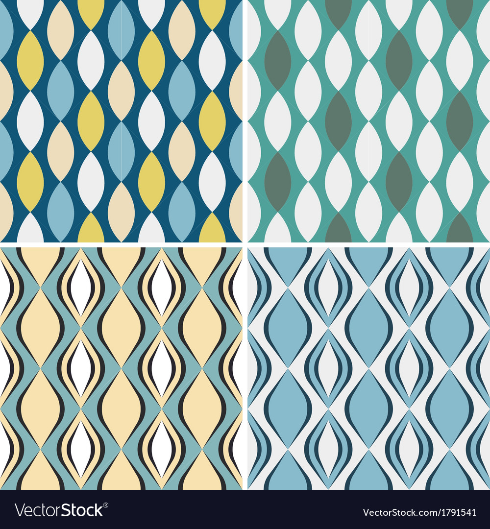 Set of seamless geometric patterns vector | Price: 1 Credit (USD $1)