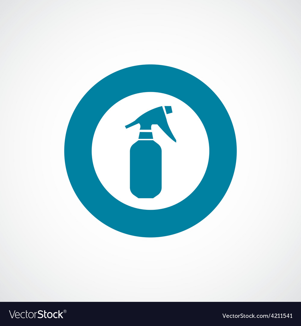 Sprayer icon bold blue circle border vector | Price: 1 Credit (USD $1)