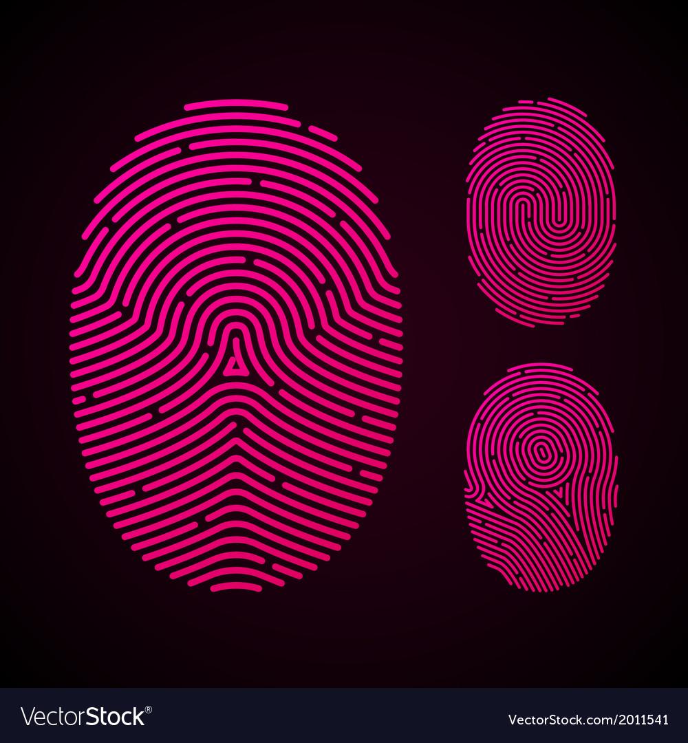 Types of fingerprint patterns vector